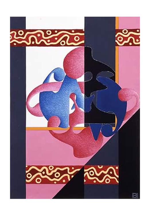 Segreto Archetipo - Anomalo, 2004 - Tecnica mista su carta, cm 50x36