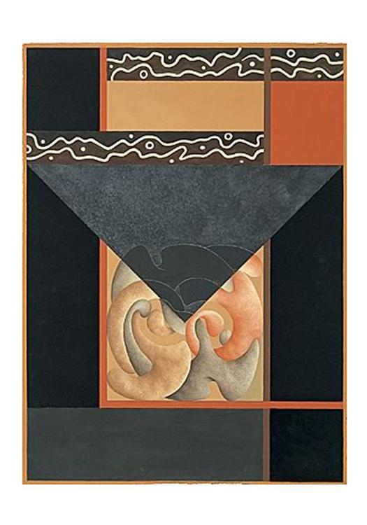 Segreto Archetipo - I, 2002 - Tecnica mista su carta a mano, cm 76x56