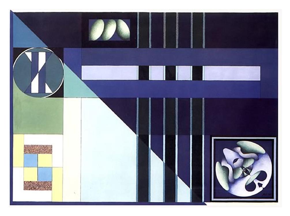 Contemplazioni - Feritoia III, 1997 - Tecnica mista su carta, cm 57x77