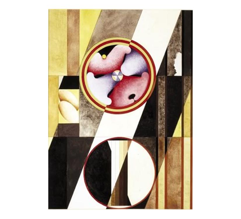Contemplazioni - Kubi II, 1997 - Acquarello e tempera su carta, cm 50x36