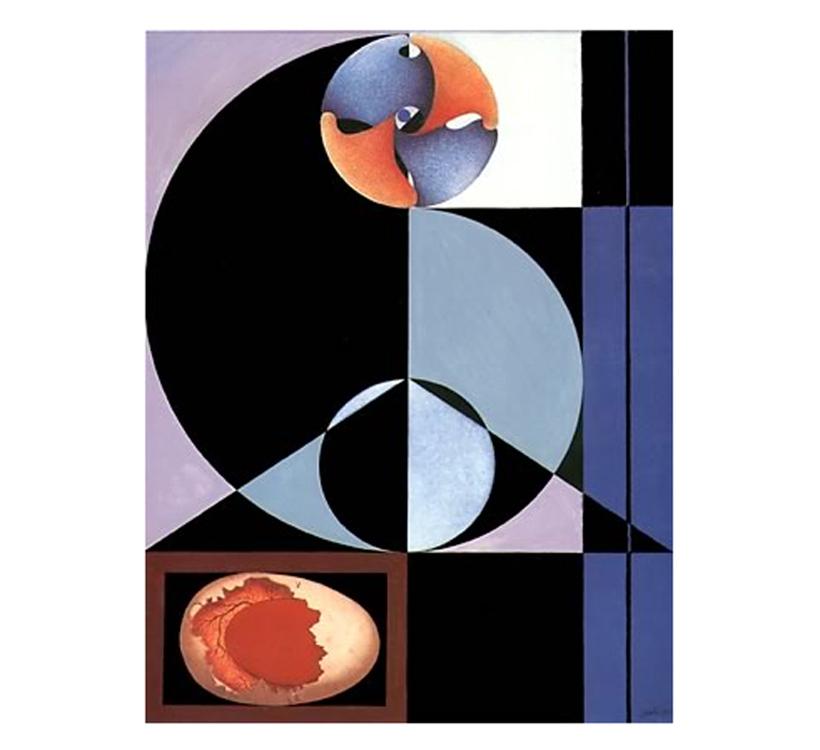 Contemplazioni - Nascita di Afrodite, 1997 - Tecnica mista su tela, cm 40x30