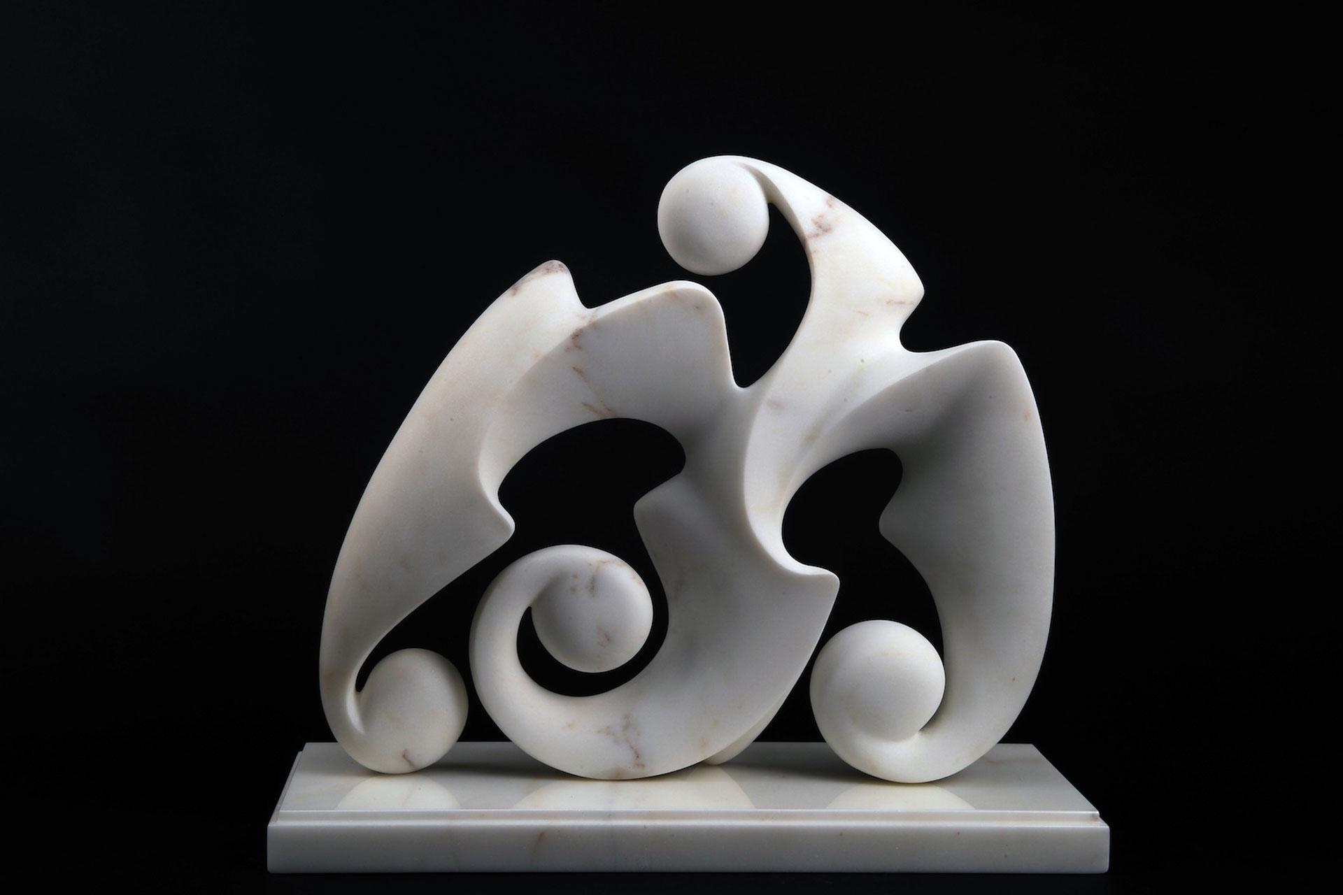 Disgiunto Barocco, 2011 - Marmo bianco Statuario, cm 37x42x16