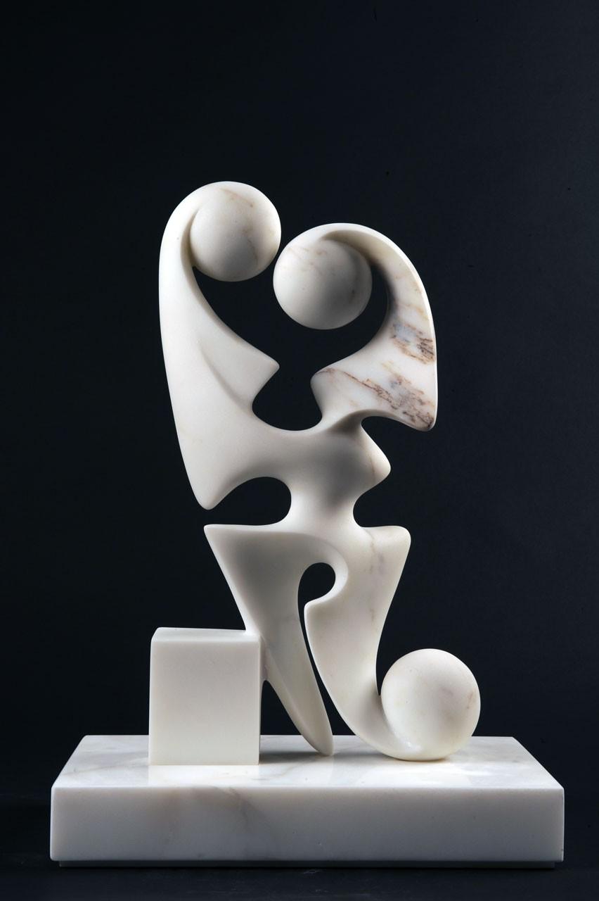 Disgiunto Guardiano, 2009 - Marmo bianco Statuario, cm 45x22x20