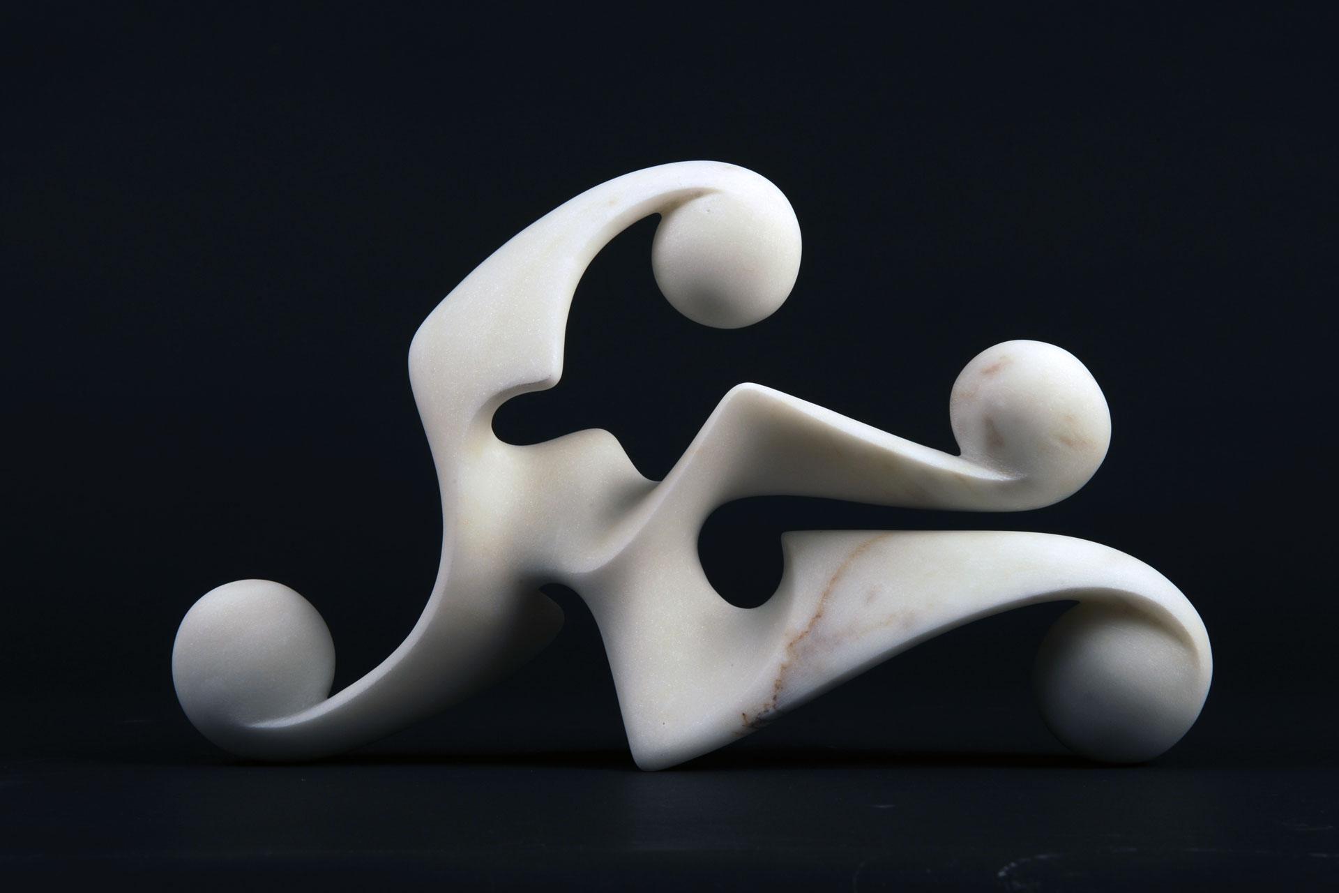 Disgiunto Ondamarina, 2009 - Marmo bianco statuario, cm 22x33x7