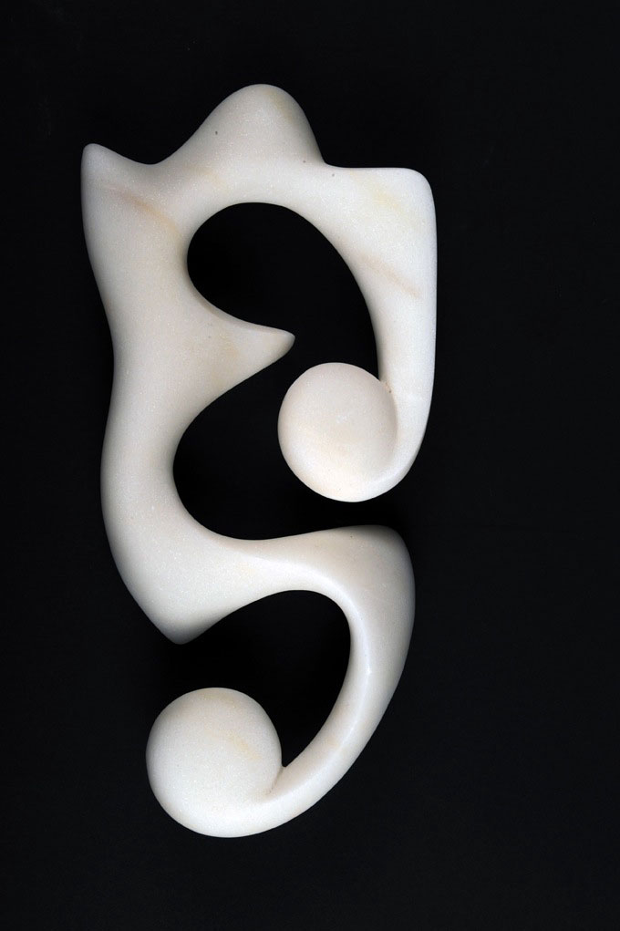 Disgiunto Rampante, 2008 - Marmo bianco statuario, cm 30x14x6