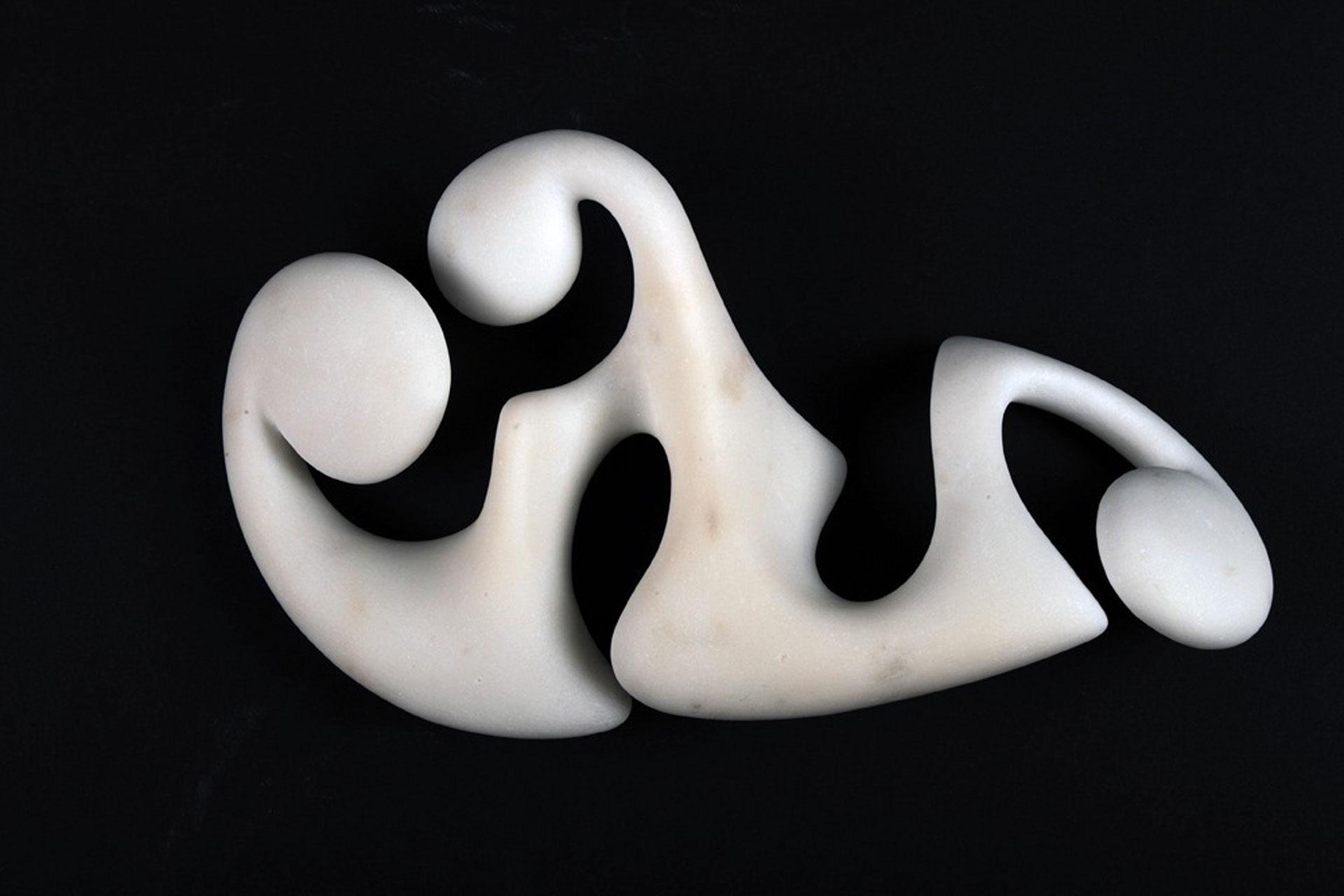 Disgiunto disteso I, 2008 - Marmo bianco statuario, cm 28x18x8