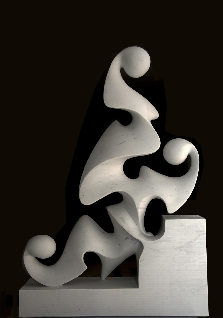 Vestale del silenzio, 2013 - Marmo bianco P, cm 134x92,5x27