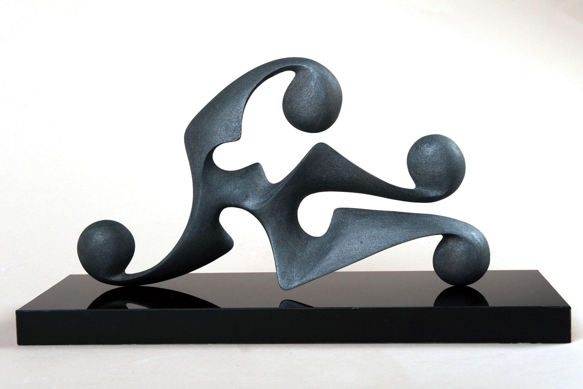 Disgiunto Ondamarina (Maquette per Elemento Plastico) , 2009 - Resina termoassemblata dipinta, cm 16x30x12